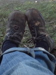Muddy shoes!